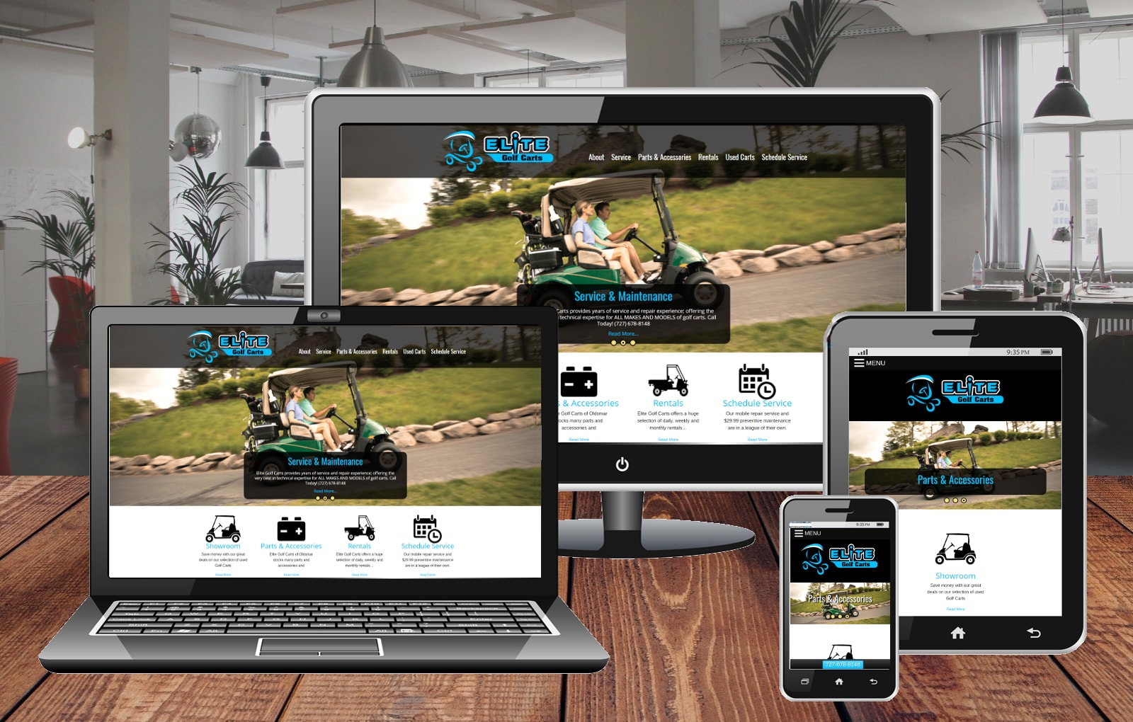 Website Design Portfolio Elite Golf Cart