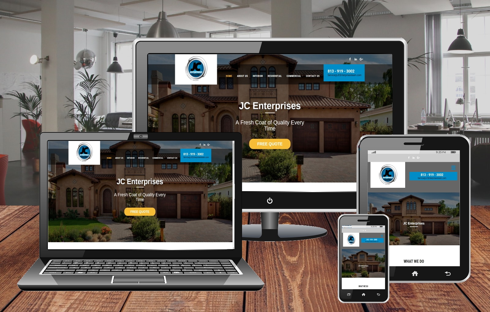 Website Design Portfolio JC Enterprises