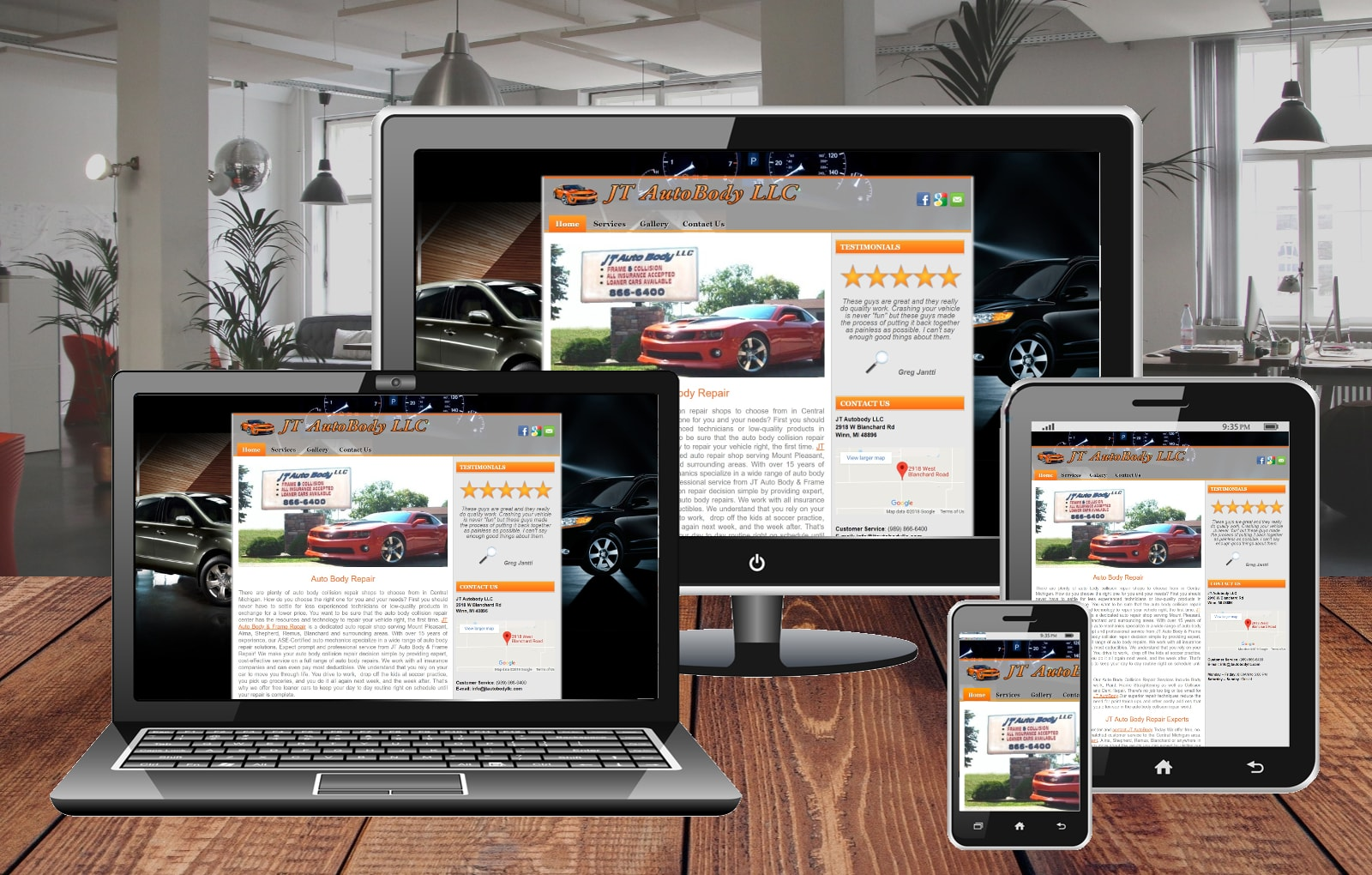 Website Design Portfolio JT Autobody LLC