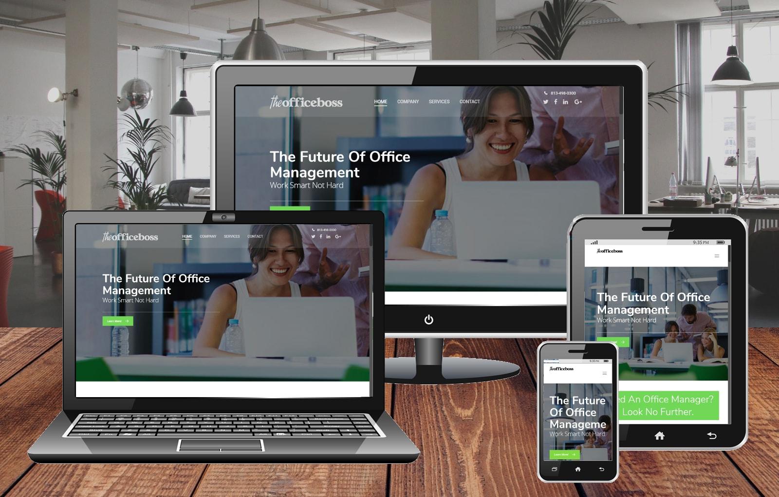 Website Design Portfolio The Office Boss