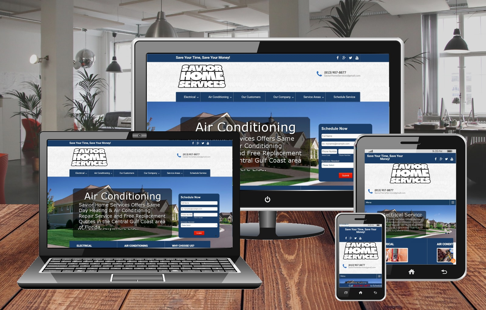 Website Design Portfolio Savior Home Services