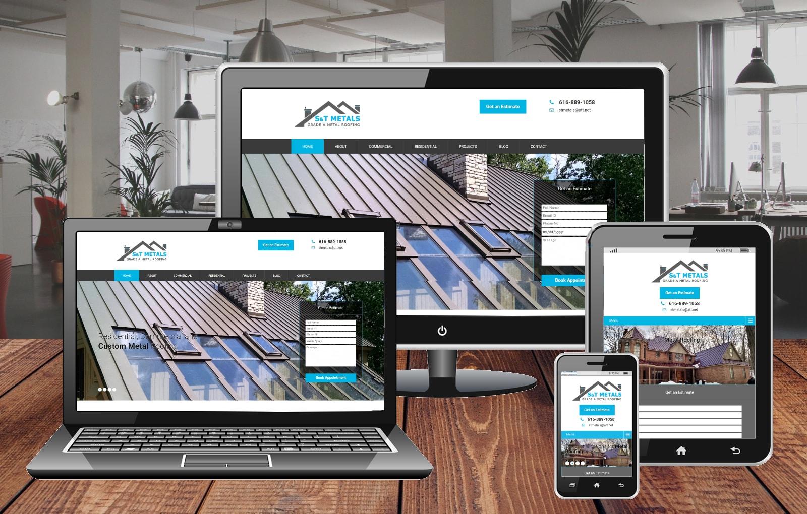 Website Design Portfolio S&T Metals