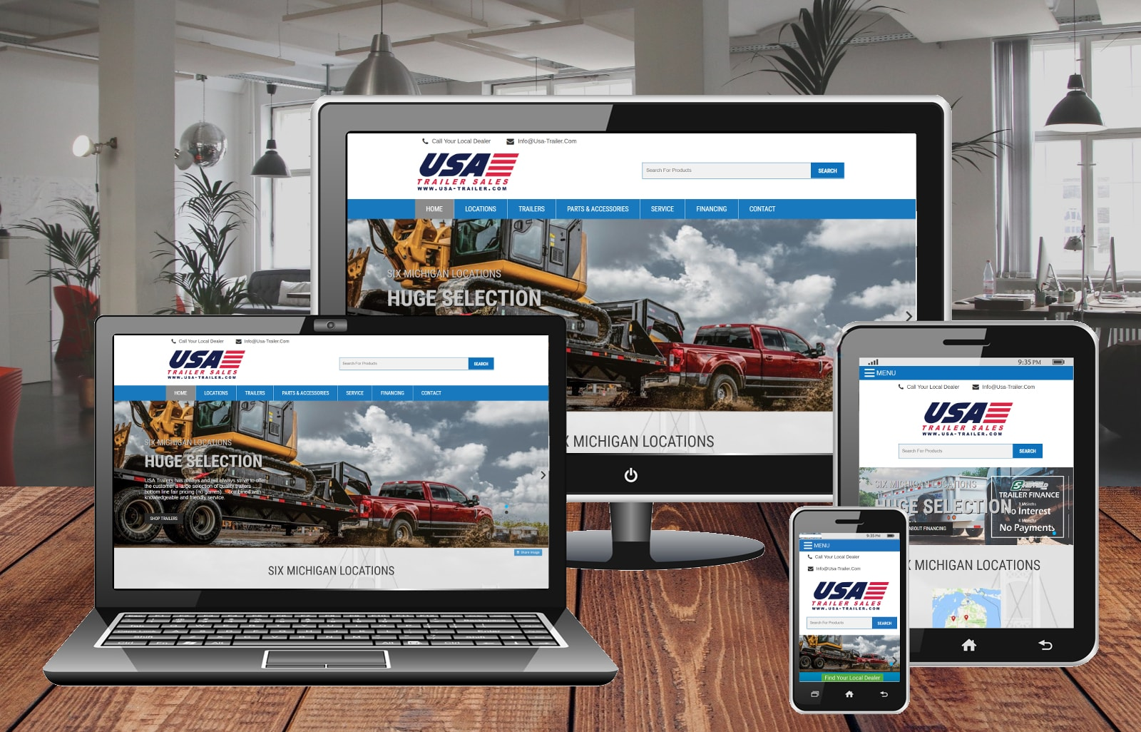 Website Design Portfolio USA Trailer Sales