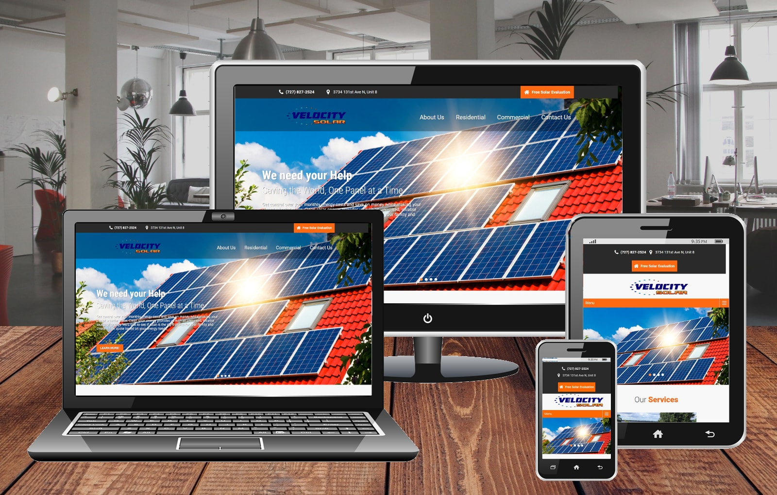 Website Design Portfolio Velocity Solar Energy